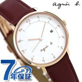 【30日はさらに+4倍でポイント最大27倍】【マスク付き♪】 アニエスベー 時計 レディース FBSK945 agnes b. マルチェロ ホワイト×レッド 赤 革ベルト 腕時計【あす楽対応】