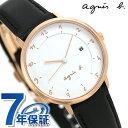 アニエスベー 時計 レディース FBSK946 agnes b. マルチェロ ホワイト×ブラック 革ベルト 腕時計【あす楽対応】