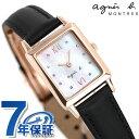 アニエスベー マルチェロ クリスマス 限定モデル レディース 腕時計 FCSK720 agnes b. レクタングル ホワイトシェル 時計