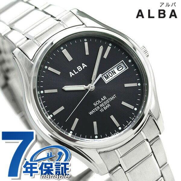 セイコー アルバ ソーラー メンズ 腕時計 AEFD540 SEIKO ALBA デイデイト ブラック 時計【あす楽対応】