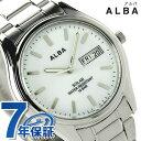 セイコー アルバ ソーラー メンズ 腕時計 AEFD541 SEIKO ALBA デイデイト ホワイト