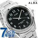 セイコー アルバ 電波ソーラー メンズ 腕時計 AEFY501 SEIKO ALBA ブラック