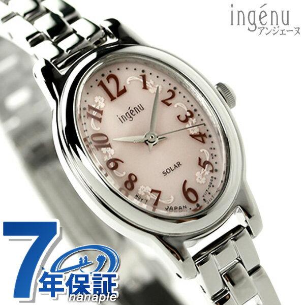 セイコー アンジェーヌ オーバルソーラーモデル レディース AHJD082 SEIKO ALBA ingenu 腕時計 ピンク