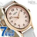 セイコー アンジェーヌ クオーツ レディース 腕時計 AHJK423 SEIKO ALBA ingenu ライトピーチ×ホワイト レザーベルト