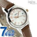 セイコー アンジェーヌ レザー クオーツ コレクション AHJT419 SEIKO ingenu 腕時計 シルバー×ブラウン 時計