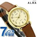 セイコー アルバ クオーツ レディース 腕時計 AQHK434 SEIKO ALBA ベージュ×ブラウン