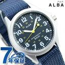 セイコー アルバ クオーツ メンズ 腕時計 AQPK402 SEIKO ALBA ネイビー