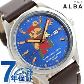 【今ならポイント最大34.5倍】 セイコー スーパーマリオ メンズ 腕時計 自動巻き ビッグサイズマリオ ACCA401 SEIKO ブルー×ブラウン キャラクターウォッチ 時計【あす楽対応】