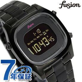 セイコー アルバ フュージョン fusion 80's デジタル メンズ レディース 腕時計 AFSM401 SEIKO スクエア オールブラック 時計