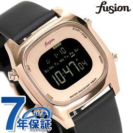 セイコー アルバ フュージョン fusion 80's デジタル メンズ レディース 腕時計 AFSM404 SEIKO スクエア ブラック×グレー 革ベルト 時計