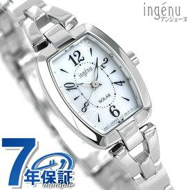 【今ならポイント最大29倍】 セイコー アルバ アンジェーヌ ソーラー 腕時計 トノーフラワー ホワイト AHJD061 SEIKO ALBA ingenu 時計