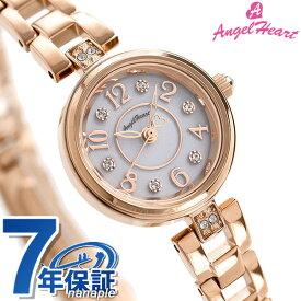 【カレンダー付き♪】 エンジェルハート ハッピープリズム 22mm ソーラー レディース HP22PG AngelHeart 腕時計 シルバー×ピンクゴールド 時計【あす楽対応】