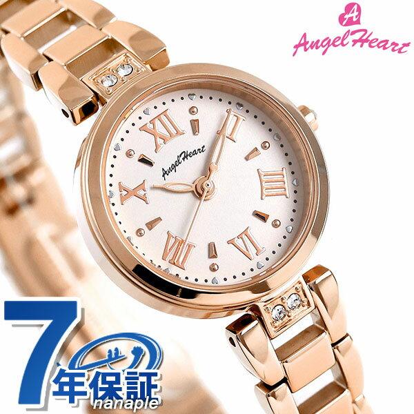 エンジェルハート スパークルタイム ソーラー レディース ST24PG AngelHeart 腕時計 ホワイト×ピンクゴールド 時計