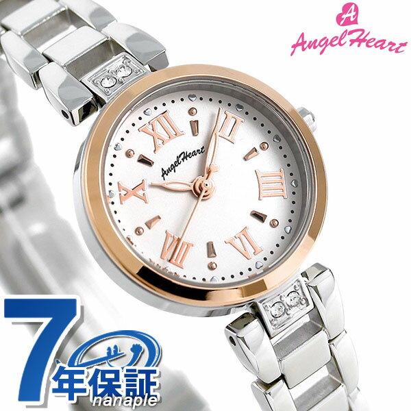 エンジェルハート スパークルタイム ソーラー レディース ST24RSP AngelHeart 腕時計 ホワイト 時計【あす楽対応】