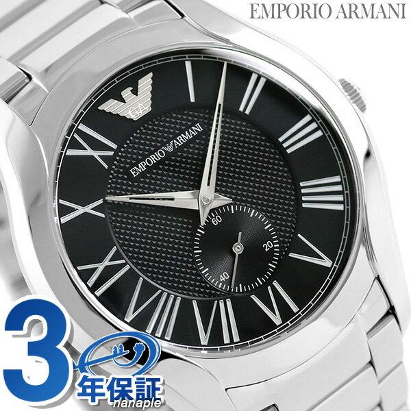 アルマーニ 時計 メンズ バレンテ スモールセコンド AR11086 EMPORIO ARMANI エンポリオ アルマーニ 腕時計 ブラック【あす楽対応】