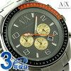 arumaniekusuchienjizacharokuronogurafumenzu AX1256 AX ARMANI EXCHANGE手表灰色×炮铜