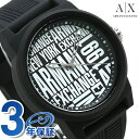 【20日なら全品5倍以上!店内ポイント最大37倍】 アルマーニ 時計 メンズ ブラック AX1443 ARMANI EXCHANGE アルマー…
