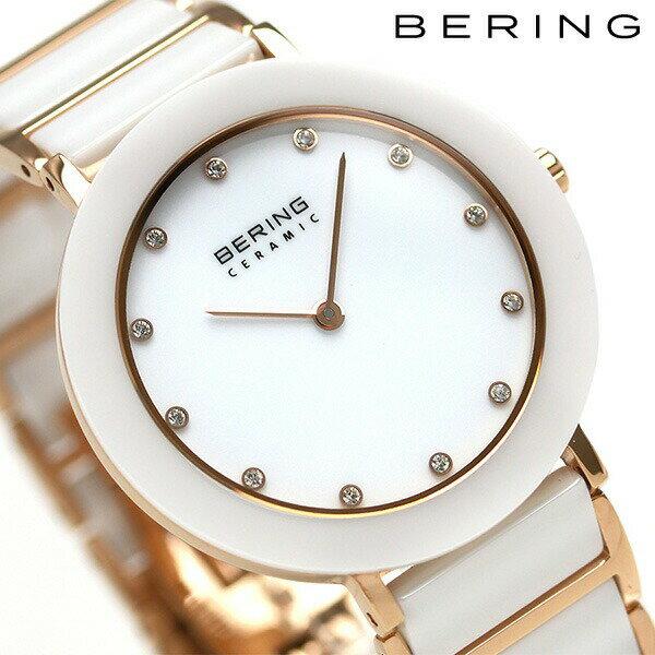 ベーリング リンク セラミック 34mm クオーツ レディース 11435-766 BERING 腕時計 ホワイト 時計【あす楽対応】