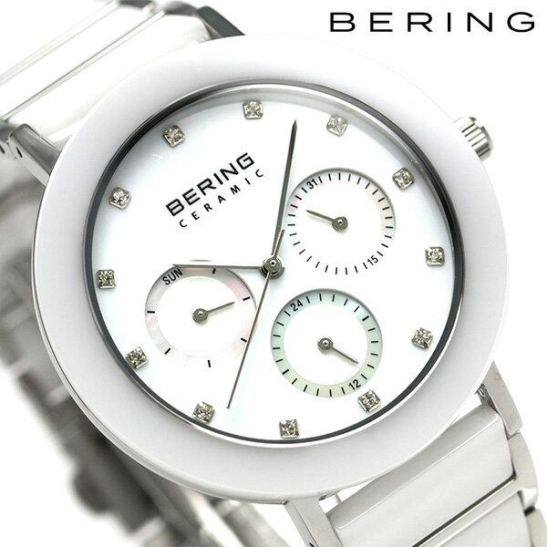 ベーリング リンク セラミック 38mm クオーツ レディース 11438-754 BERING 腕時計 ホワイト 時計【あす楽対応】
