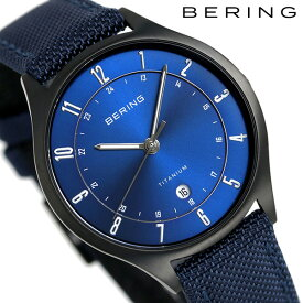【今ならポイント最大32倍】 ベーリング チタン メンズ 腕時計 チタ二ウム 39mm 11739-827 BERING ブルー 時計【あす楽対応】