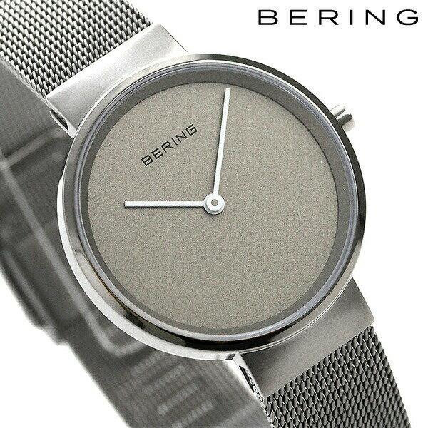 ベーリング カービング メッシュ 31mm クオーツ レディース 14531-077 BERING 腕時計 グレー 時計【あす楽対応】