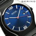 ベーリング リンク セラミック 39mm クオーツ メンズ 31739-747 BERING 腕時計 ブルー×ブラック