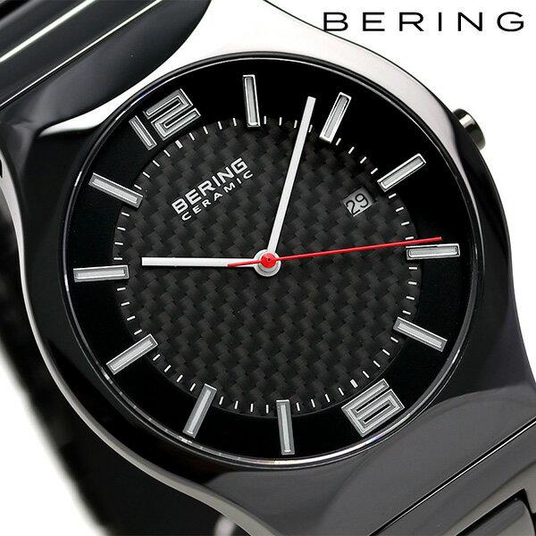 ベーリング リンク セラミック 39mm クオーツ メンズ 31739-749 BERING 腕時計 オールブラック 時計【あす楽対応】