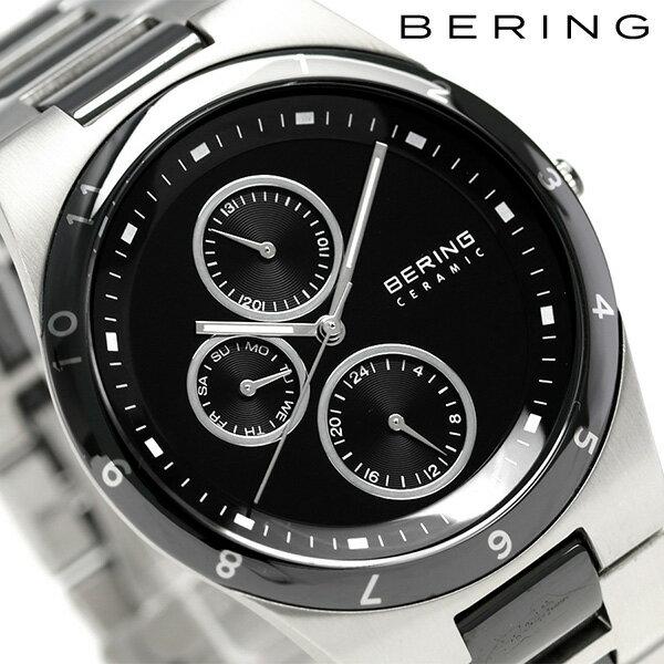 ベーリング リンク セラミック 39mm クオーツ メンズ 32339-742 BERING 腕時計 ブラック 時計【あす楽対応】