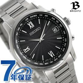 【今ならポイント最大37倍】 セイコー ブライツ クラシック ドレッシー チタン 電波ソーラー メンズ 腕時計 SAGZ097 SEIKO BRIGHTZ ブラック 時計【あす楽対応】