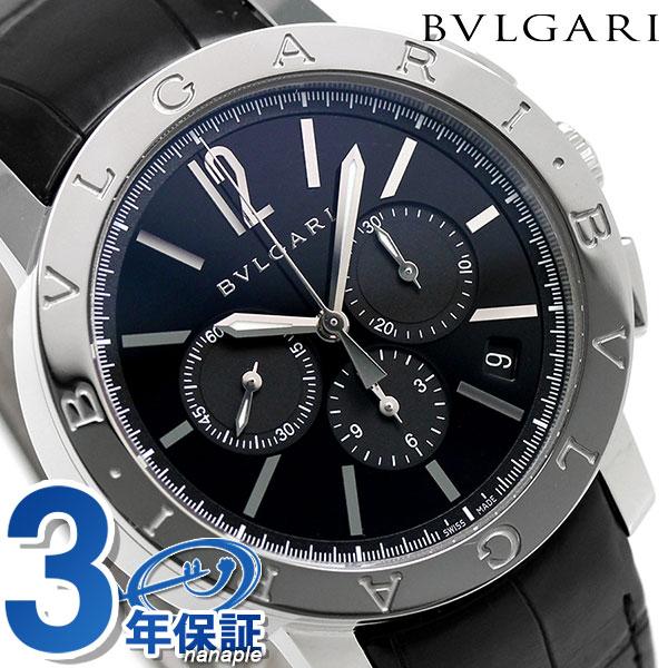 【エントリーでさらに3000ポイント!26日1時59分まで】 ブルガリ 時計 メンズ BVLGARI ブルガリ41mm 自動巻き BB41BSLDCH 腕時計 ブラック