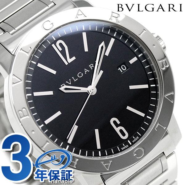 ブルガリ BVLGARI ブルガリブルガリ 41mm 自動巻き メンズ BB41BSSD 腕時計 ブラック【あす楽対応】