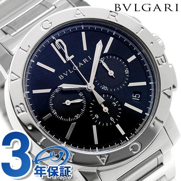 【エントリーでさらに3000ポイント!26日1時59分まで】 ブルガリ 時計 メンズ BVLGARI ブルガリ41mm 自動巻き BB41BSSDCH 腕時計 ブラック