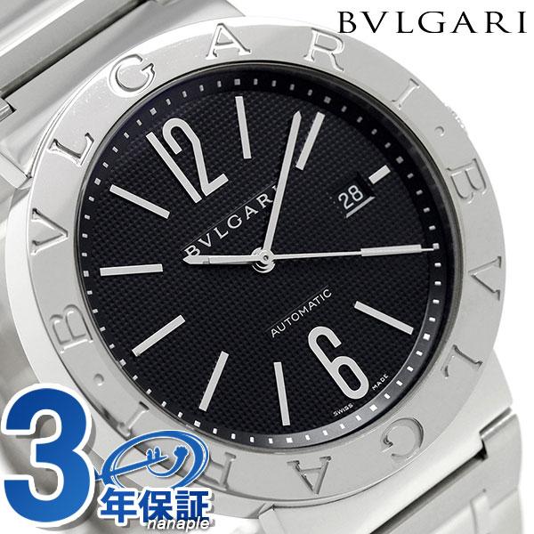 【エントリーで最大14倍 18日10時〜】ブルガリ 時計 メンズ BVLGARI ブルガリ42mm 自動巻き BB42BSSDAUTO 腕時計 ブラック