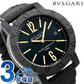 【今ならポイント最大18倍】 ブルガリ BVLGARI 時計 ブルガリブルガリ カーボンゴールド 40mm 自動巻き メンズ 腕時計 BBP40BCGLD/N【あす楽対応】