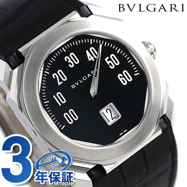 【さらに!ポイント+4倍 24日9時59分まで】ブルガリ 時計 メンズ BVLGARI オクト レトログラード 38mm 自動巻き BGO38BSLR 腕時計 ブラック