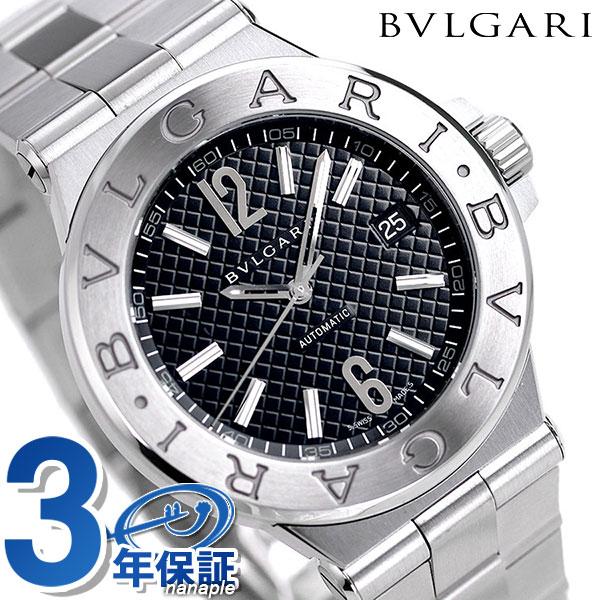 ブルガリ 時計 メンズ BVLGARI ディアゴノ 40mm 自動巻き 腕時計 DG40BSSD ブラック【あす楽対応】