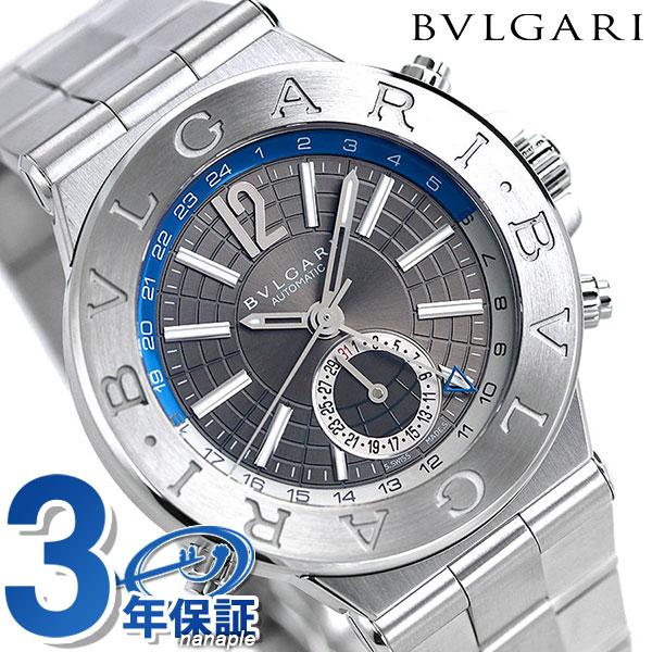 【さらに!ポイント+4倍 24日9時59分まで】ブルガリ 時計 BVLGARI ディアゴノ クラシック 40mm 自動巻き DG40C14SSDGMT 腕時計 シルバー【あす楽対応】
