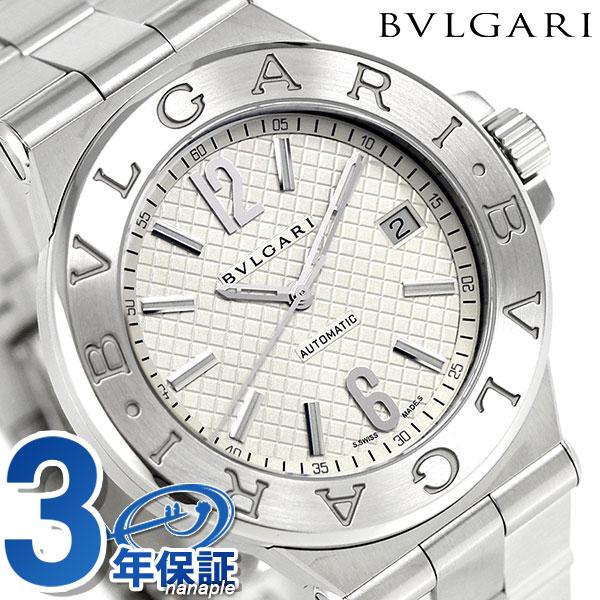 【エントリーで最大14倍 18日10時〜】ブルガリ 時計 メンズ BVLGARI ディアゴノ 40mm 自動巻き DG40C6SSD 腕時計 シルバー【あす楽対応】
