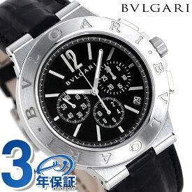 ブルガリ ディアゴノ ベロチッシモ 41mm メンズ 腕時計 DG41BSLDCH BVLGARI ブラック