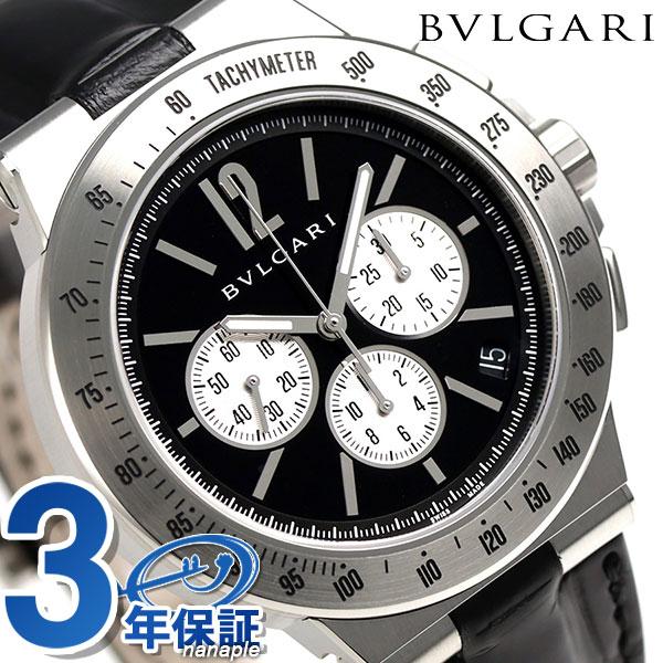 ブルガリ 時計 BVLGARI ディアゴノ 41mm クロノグラフ DG41BSLDCHTA 腕時計 ブラック