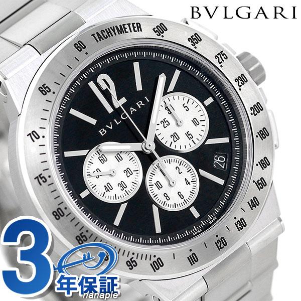 ブルガリ 時計 BVLGARI ディアゴノ 41mm 自動巻き メンズ DG41BSSDCHTA ブラック 腕時計