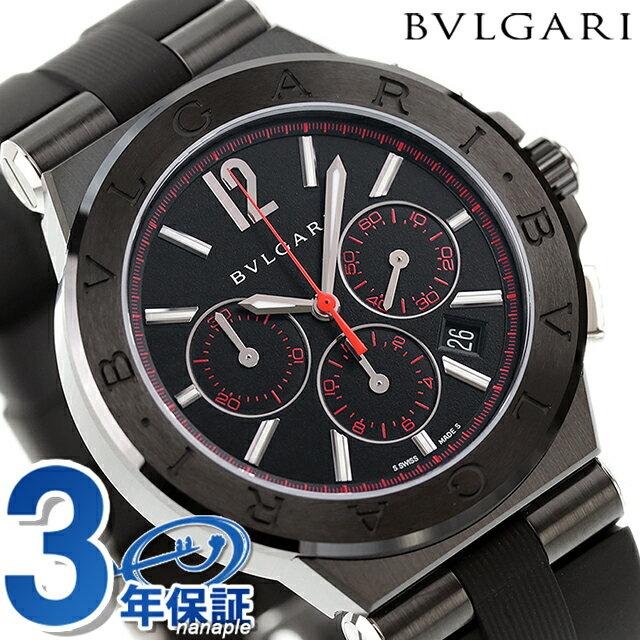 ブルガリ 時計 BVLGARI ディアゴノ ウルトラネロ 自動巻き クロノグラフ DG42BBSCVDCH/1 腕時計