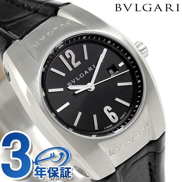 【エントリーで最大14倍 20日9時59分まで】ブルガリ 時計 レディース BVLGARI エルゴン 30mm クオーツ EG30BSLD 腕時計 ブラック【あす楽対応】