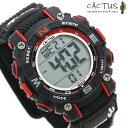 腕時計 キッズ カクタス 子供用 デジタル ブラック CAC-104-M01 CACTUS 時計【あす楽対応】