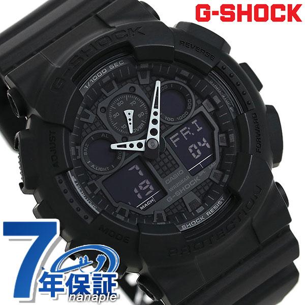 G-SHOCK CASIO GA-100-1A1DR 腕時計 カシオ Gショック Newコンビネーションモデル フルブラック 時計【あす楽対応】