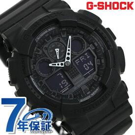 【25日は全品5倍でポイント最大27倍】 G-SHOCK ブラック CASIO GA-100-1A1DR 腕時計 カシオ Gショック Newコンビネーションモデル フルブラック 時計【あす楽対応】