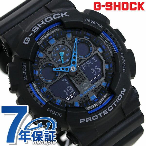 G-SHOCK CASIO GA-100-1A2DR 腕時計 カシオ Gショック Newコンビネーションモデル ブラック × ブルー 時計【あす楽対応】
