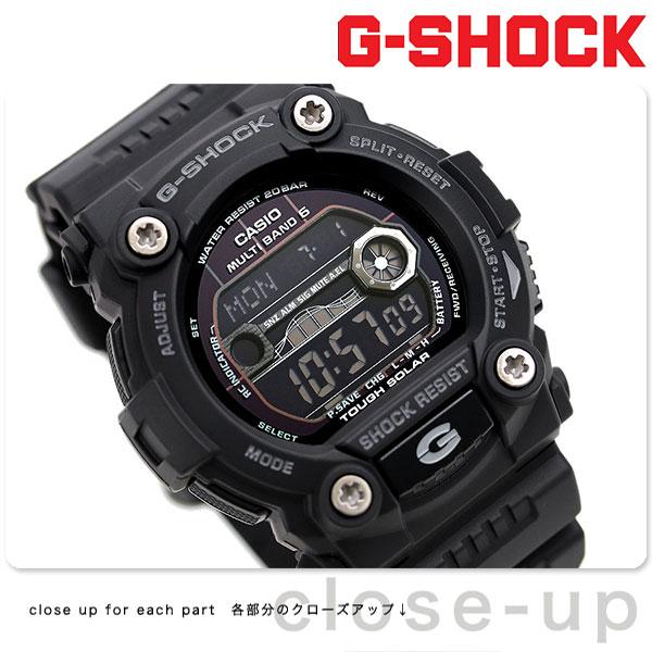 G-SHOCK 電波 ソーラー CASIO GW-7900B-1 腕時計 カシオ Gショック タイドグラフ・ムーンデータ搭載 フルブラック
