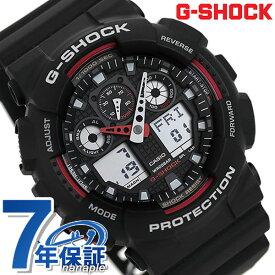 【1日は全品5倍でポイント最大23倍】 G-SHOCK CASIO GA-100-1A4DR 腕時計 カシオ Gショック Newコンビネーションモデル ブラック × レッド 時計【あす楽対応】