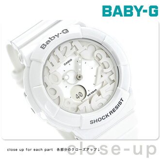 Casio Baby-G Watch Baby-G Neon Dial Series, White, BGA-131-7BDR